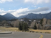 The view coming in to Estes Park, Colorado on Highway 36.  That's the old Stanley Hotel on the hillside.