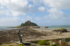 St Michael's Mount at low tide, from Marazion