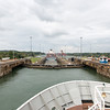 The last lock in the Panama Canal on the Atlantic side.