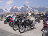 More bikes have made it up these mountains today. This is a group of NSU's