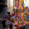 Brightly painted ornaments, Calle Heredia, Santiago de Cuba, Cuba