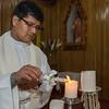 El padre Juan Contreras Quispe de la parroquia Santísima Trinidad de Mariscal Gamarra en Cusco
