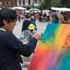 Pintor en acción