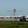 Airport Air Traffic Control Tower building in Detroit, Michigan.