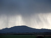 Rainstorm over Brent Knoll. 2nd Jan 2012. This photograph is used regularly on BBC Points West weather broadcasts.