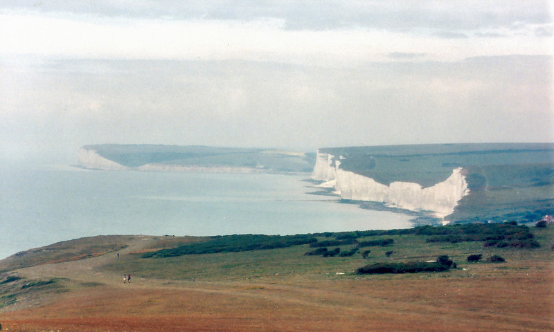 White cliffs<br /> Southdowns<br /> England - July 1996