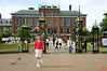 This is the entrance to Kensington Palace. The gates behind Rosa were the site of the massive public outpouring of grief over the death of Lady Diana, Princess of Wales. IMG_4721