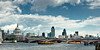 The Thames river and London skyline<br /> England<br /> UK
