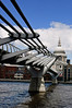 The Millenium Bridge and St Paul's Cathedral<br /> London<br /> England<br /> UK