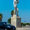 Marseille, France, Street Scenes, Statue of David at Prado Beach, Traffic Circle, South of France