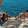 Marseille, France, Gay Nude Beach Scenes Point Rouge, on Mediterranean Sea, South of France