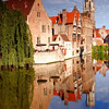 Belgium - West Flanders - Bruges - Brugge - World Heritage Site of UNESCO - Well-preserved medieval historic city - One of the most beautiful cities in Europe - Veritable open air museum with cobbled streets & waterways