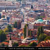 Europe - Bosnia and Herzegovina - Sarajevo - Сарајево - Capital city - Bascarsija district - Baščaršija - Panorama of Historical Centre of the City
