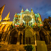 Illuminated Cathedral, Chartres, France, July, 2012