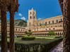 The cloister of the abbey of Monreale, Monreale, Sicily, Italy