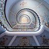 Europe - Latvia - Riga - Rīga - Capital and largest city of Latvia - Riga's historical centre - UNESCO World Heritage Site - Staircase in Riga Art Nouveau Museum