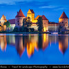 Europe - Lithuania - Lietuva - Trakai Island Castle - Trakų salos pilis - Medieval Gothic castle on an island in Lake Galvė - One of the country's major tourist attractions