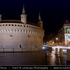 Europe - Poland - Polska - Krakow - Cracow - Former Capital of Poland - Historic centre of 13th-century merchants' town with Europe's largest market square & numerous historical houses, palaces & churches with magnificent interiors - UNESCO World Heritage Site - Night