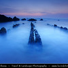 Europe - Spain - España - Basque Country - Zumaia - Zumaya - Unusual rock formations at Algorri Beach