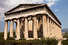 The Temple Of Hephaestus in the Agora park in Athens.