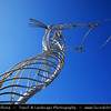 UK - Northern Ireland - Belfast - City waterfront area - Beacon of Hope Sculpture
