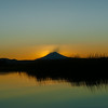 Mount Shasta sunset veiwed from the  Fall River, 2014-07-05