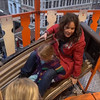 Riding the Helter Skelter - Coralie loved it!