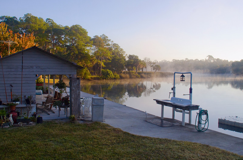 Early morning at Mary's Fish Camp Florida