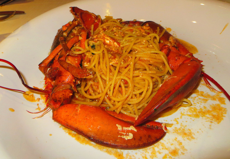 Spagetti wiith Lobster- dinner for one