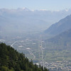 Martigny, Switzerland, from the Col de la Forclaz