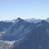 Mont Dolent, the Aiguille de Talèfre, and the Grand Combin, from the Aiguille du Midi