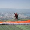 Paragliders at Salève, with Geneve in the background.