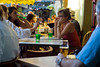 Arles, France - Street Scene Outside, Women Sharing Drinks on Terrace of French Cafe