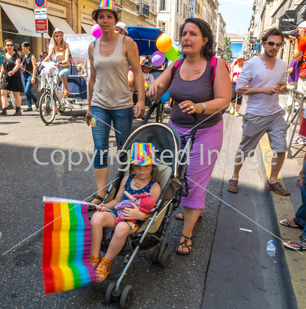 "Marseille, France, European Gay Pride ""Europride"" International LGBT March in South of France"