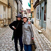 Nicky Arden and Carol Gardyne in the village of Noyer Sur Serein