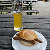 Beer and bratwurst after hiking back from Schloss Neuschwanstein