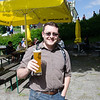 Having a beer near the Alpsee