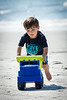 Jack playing with his dump truck on the beach in Sea Pines, Hilton Head Island, SC.