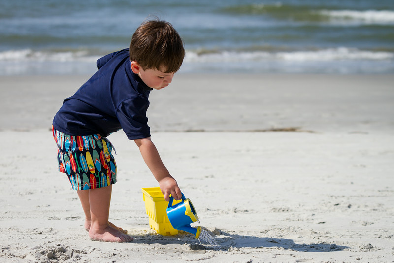 Jack playing on the beach in Sea Pines, Hilton Head Island, SC.