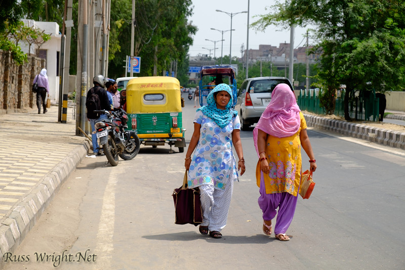 Women in their colorful clothing New Delhi, India. 2015