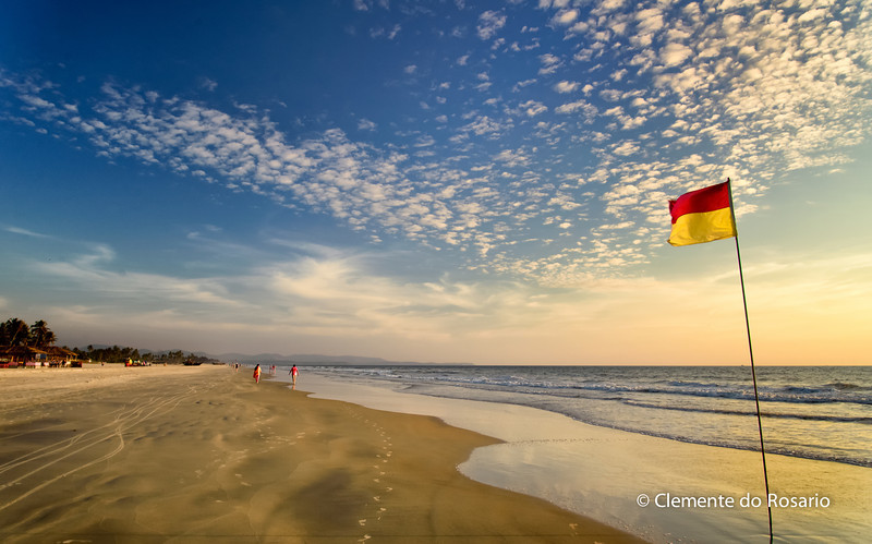Varca Beach at sunset in South Goa India