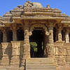South doorway to the open Mandapa - Sun Temple, Modhera Gujurat India