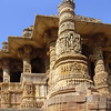 The Southeast view of the open Mandapa - Sun Temple, Modhera Gujurat India