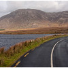 Traveling along the principal highway of the Connemara.