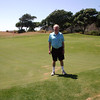 The sole photo of me on the golf course.  I discovered a secret to shoot lowers scores.  It was to play from 6,000 instead of 6,250 yards.  This was important because being at sea level I lost about ten yards of distance.