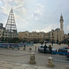 O little town of Bethlehem- sharp contrasts between the minaret and the Christmas tree