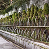 Wall of water at Villa d'Este in April 2008.