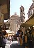 Church of San Lorenzo and street market Florence