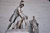"""""""Menelaus supporting the body of Patroclus"""". In the Loggia dei Lanzi, within the Piazza della Signoria."""