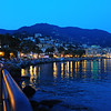 Europe Italy Rapallo mediterranean Liguria Region-the waterfront at night